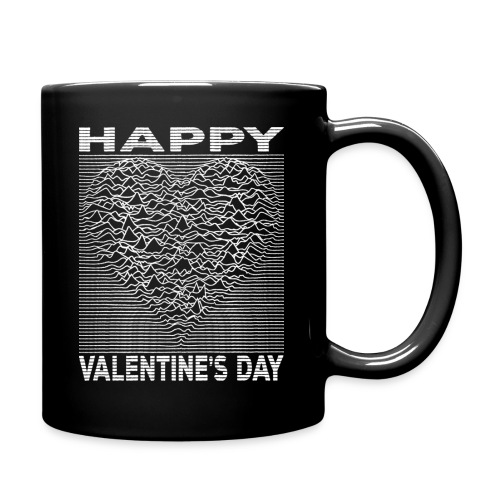 Love Lines Happy Valentines Day Heart - Full Color Mug