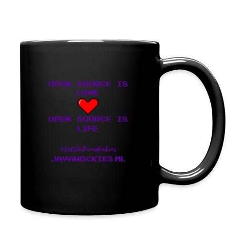 Open Source is Love. Open Source is Life. - Full Color Mug