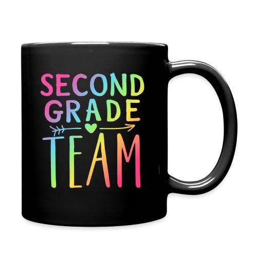 Second Grade Team Neon Rainbow Teacher T-Shirts - Full Color Mug