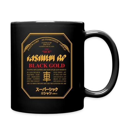 Fastway Beer Can Black Gold - Full Color Mug