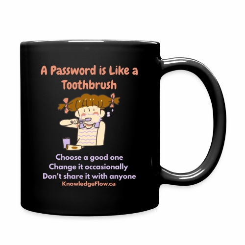 A Password is Like a Toothbrush...(1) - Full Color Mug