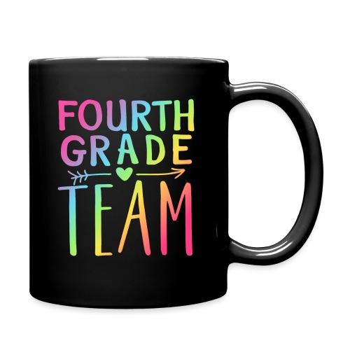 Fourth Grade Team Neon Rainbow Teacher T-Shirts - Full Color Mug
