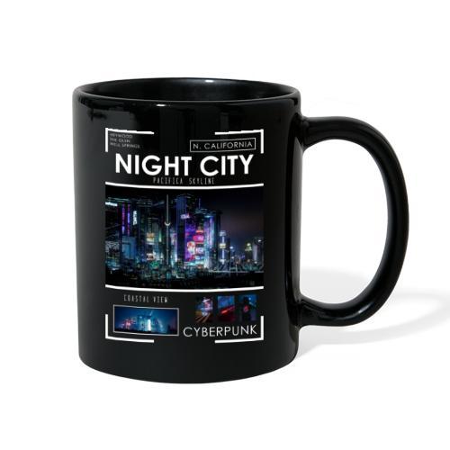Night City Pacifica Skyline - Full Color Mug