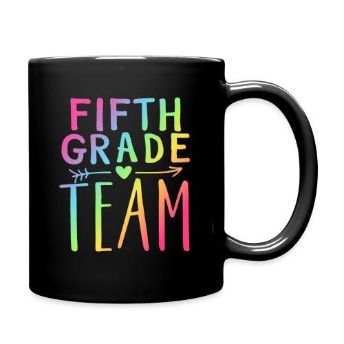 Fifth Grade Team Neon Rainbow Teacher T-Shirts - Full Color Mug