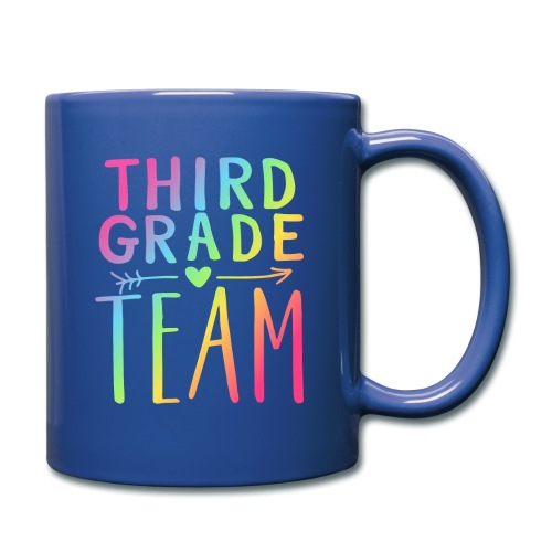Third Grade Team Neon Rainbow Teacher T-Shirts - Full Color Mug