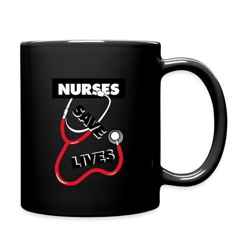 Nurses save lives red - Full Color Mug