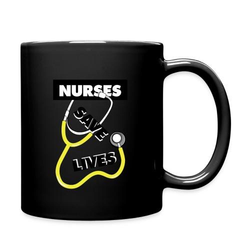 Nurses save lives yellow - Full Color Mug