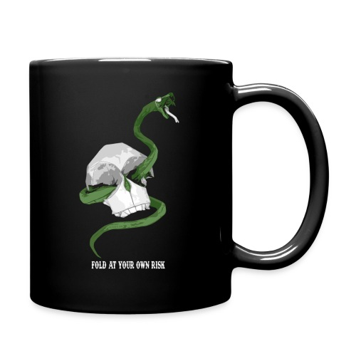 Origami Snake and skull - Full Color Mug