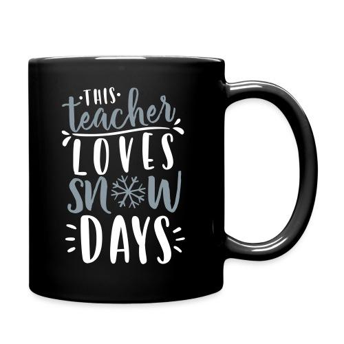 This Teacher Loves Snow Days Funny Winter Teacher - Full Color Mug