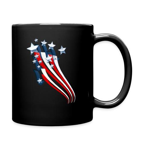 Sweeping American Flag - Full Color Mug