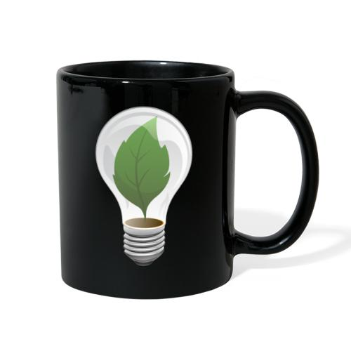 Clean Energy Green Leaf Illustration - Full Color Mug