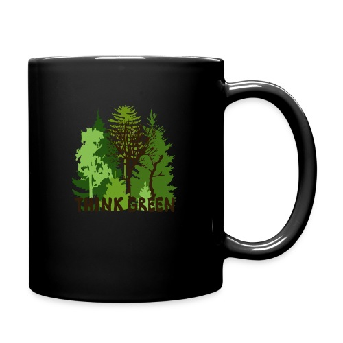 EARTHDAYCONTEST Earth Day Think Green forest trees - Full Color Mug