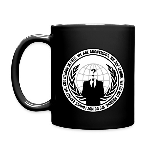 Anonymous Logo With Slogan png - Full Color Mug