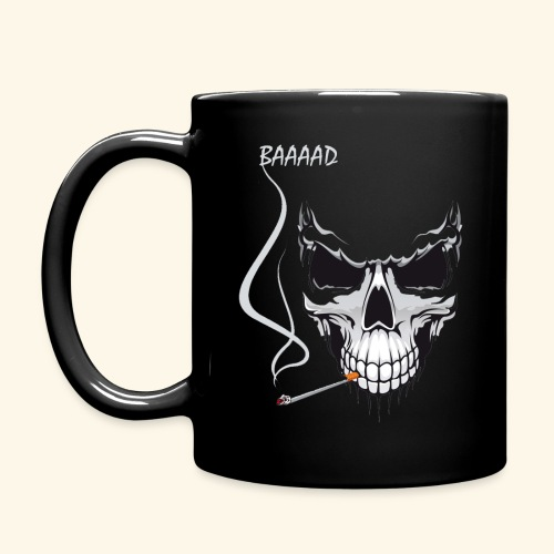 bad smoking skull long sleeve shirts - Full Color Mug
