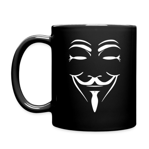 Anonymous Thin Face Black gif - Full Color Mug