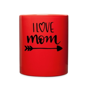 i love mom 5252 - Full Color Mug