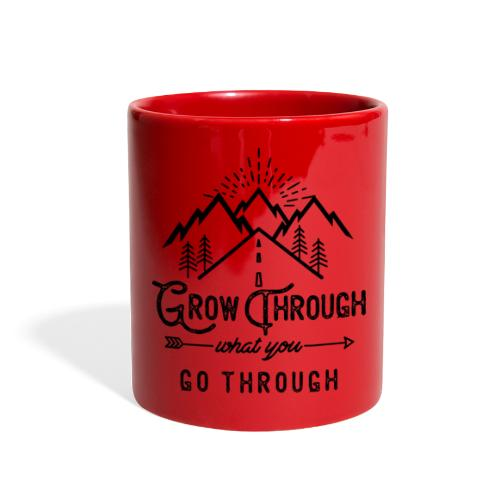 Grow Through What You Go Through - Black - Full Color Mug