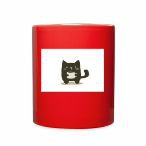 Cat holding Coffee Mug - Full Color Mug