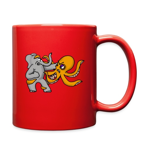 Elephant vs. Octopus Mug - Full Color Mug