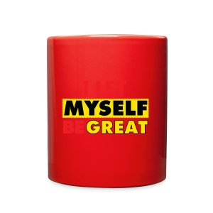 I Let Myself Be Great (White Background) - Full Color Mug