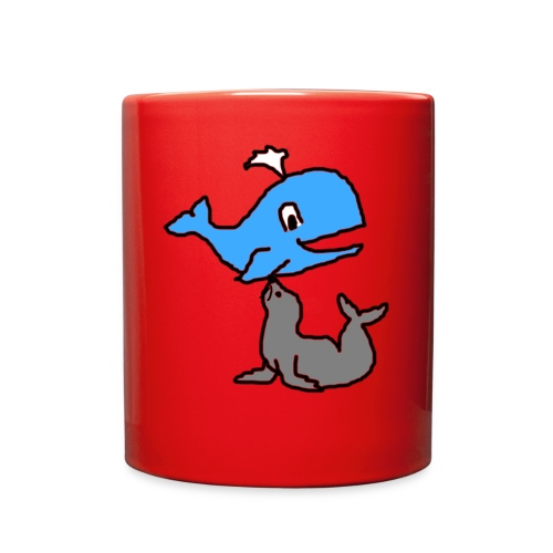 whale and seal - Full Color Mug