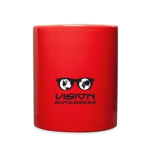 Vision Sunglasses White/Black - Full Color Mug