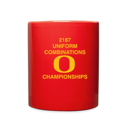 2187 UNIFORM COMBINATIONS O CHAMPIONSHIPS - Full Color Mug