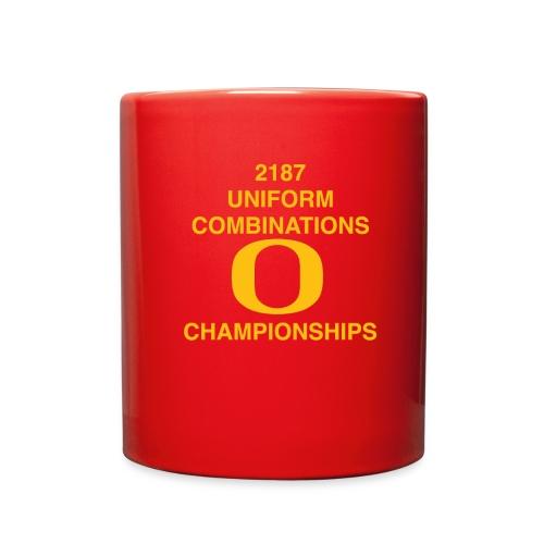 2187 UNIFORM COMBINATIONS O CHAMPIONSHIPS - Full Color Mug