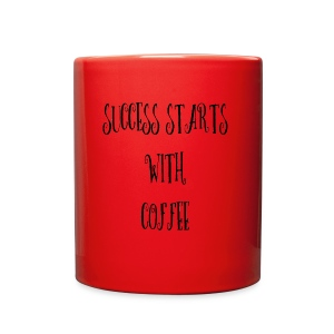Success Starts With Coffee - Full Color Mug