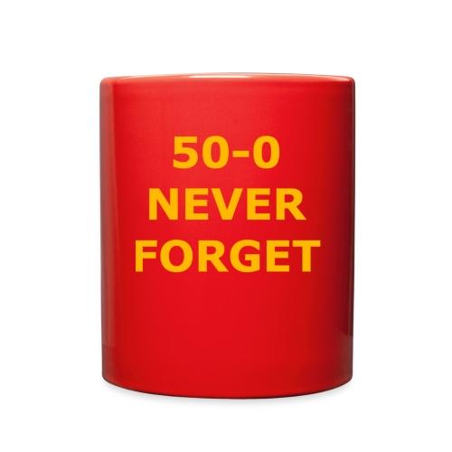 50 - 0 Never Forget Shirt - Full Color Mug