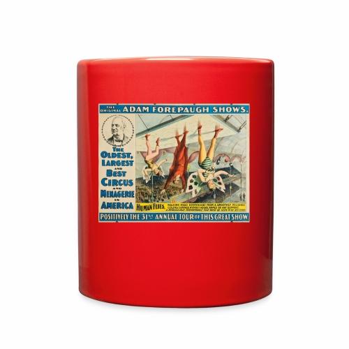 Human Flies - Retro Circus Act - Full Color Mug