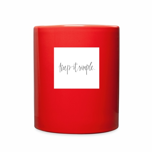 Keep it simple - Full Color Mug