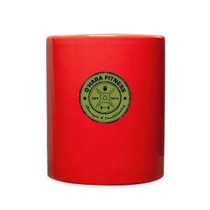 White Mug Green logo - Full Color Mug