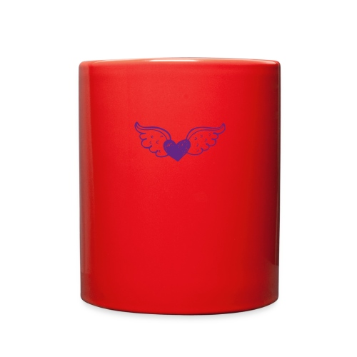 Hannie purple heart with wings - Full Color Mug