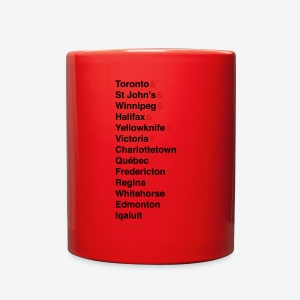 Canada's Capitals - Red & Black - Full Color Mug