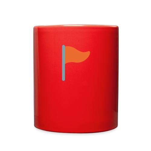 7947 triangular flag on post - Full Color Mug