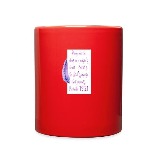 Proverbs 19:21 women pin - Full Color Mug