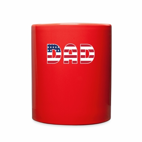 DAD + US Flag - Full Color Mug