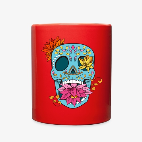 Day of the Dead Sugar Skull T-Shirt - Full Color Mug