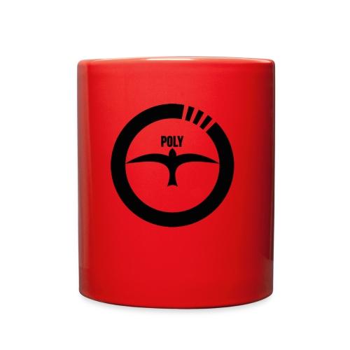 PolyFly Big Logo black - Full Color Mug