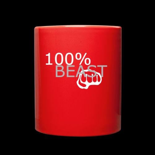 100% beast logo white - Full Color Mug