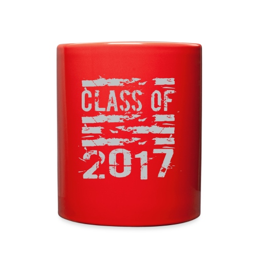 Class of 2017 Cool Grunge Typography - Full Color Mug