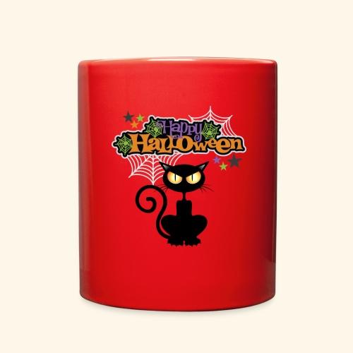 happy holloween BLACCK CAT TEE - Full Color Mug