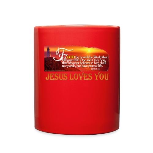 Lighthouse JOHN 3 16 - Full Color Mug