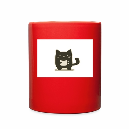 Cat holding Coffee Mug - Full Color Mug