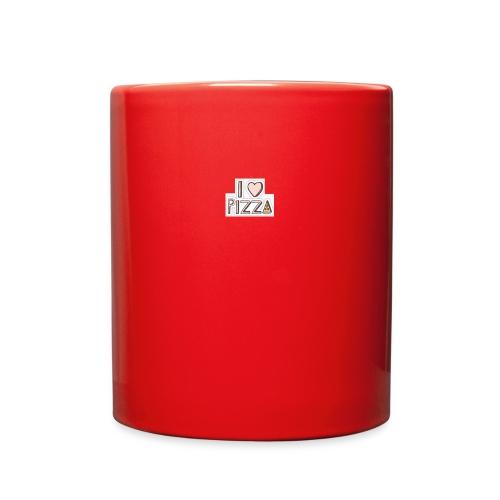 I love pizza button - Full Color Mug