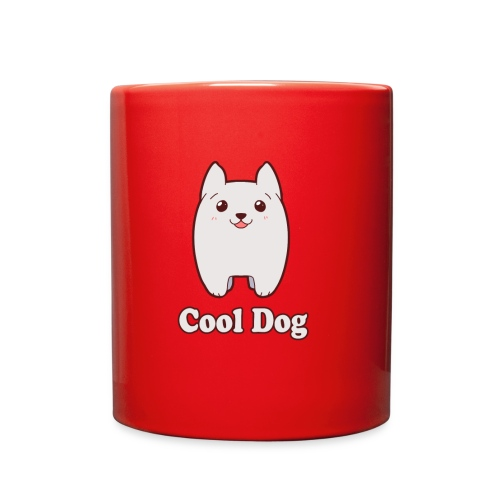 Cool Dog Fluffy Dog Logo - Full Color Mug