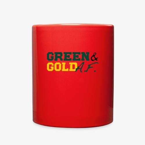 Green and Gold AF - Full Color Mug