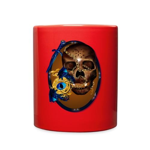 Oval-Dark Skull with Evil - Full Color Mug