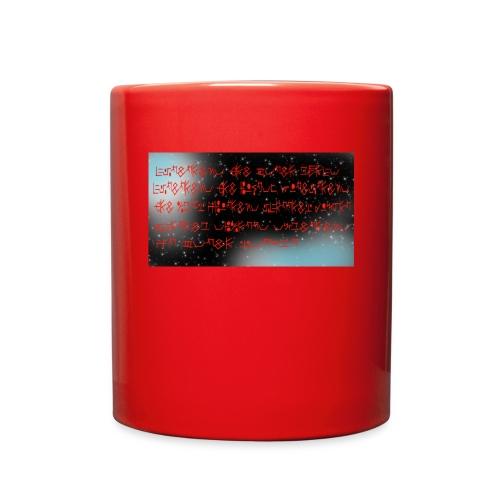 Text and Stars - Full Color Mug